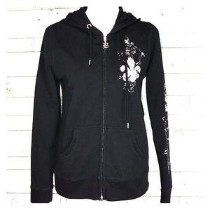 BCBG Max Azria embellished hoodie M #351